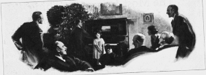 "Fig.2.a Les chants de Noël place l'enfant sur le devant de la scène familiale. ""And through the years..."". Publicité pour les pianos Gulbransen, Saturday Evening Post, 4 décembre 1926, p. 159. Source : J. Walter Thompson Company. 35mm Microfilm Proofs, 1906-1960 and undated. Reel 12."