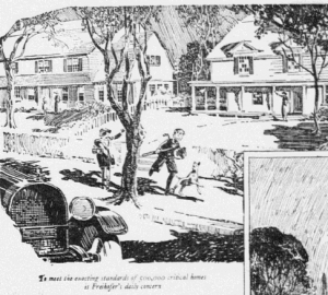 Fig.2.a « DAY by DAY in homes like these the future of America is built », Publicité pour Freihofer's Fine Bread, Reading Eagle, 26 février 1925, p.11. Source : J. Walter Thompson Company. 35mm Microfilm Proofs, 1906-1960 and undated. Reel 9.