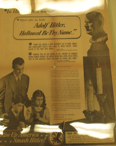 "(""Adolf Hitler, Hallowed Be Thy Name » - New York Times - Lundi 8 novembre 1941. Source : J. Walter Thompson Company. World War II Advertising Collection, 1940-1948 and undated. Box 2 (Religious and Charitable Organizations, 1942 and undated)"