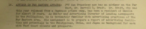 "Fig.18 - ""Advisor on Far Eastern Affair"". The J. Walter Thompson Bulletin. 14 septembre 1945, p.2. Source : J. Walter Thompson Company. Newsletter Collection, 1910-2005. Box MN9 (1945-1950)."
