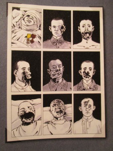 Fig.7. Galerie des gueules cassées par Jacques Tardi. La Grande Guerre en Bande dessinée. Beaux-Arts Magazine, 2014, p.91.