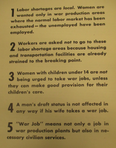 "Fig.74 - ""Civilian Clients' Advertising, Other Than War Bonds, 1941-1945"" - ""War jobs for women"""