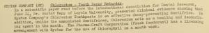 """Fig. 132 - """"Rystan Company - Chloresium - Tooth Decay Retarder"""" - The J.W.T News. 4 juillet 1949, vol.IV, no.27, p.2. Source : J. Walter Thompson Company. Newsletter collection, 1910-2005. Box MN9 (1945-1950). Cette publicité fait la promotion d'un produit exclusivement réservé aux personnes âgées en réponse à un problème a priori spécifique à la vieillesse : les dents gâtées. Mais en valorisant le principe de prévention et en cherchant à retarder le processus de dégradation dentaire, elle s'adresse également voire prioritairement aux adultes plus jeunes ou encore au seuil de la vieillesse."""