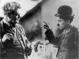 Granville Redmond et Charlie Chaplin (source : http://www.granvilleredmondgallery.com/)