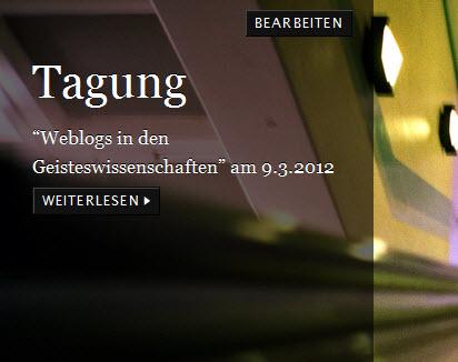 de.hypotheses.org – ein Blogportal für die deutschsprachigen Geisteswissenschaften