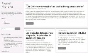 Aggregator für deutschsprachige Geschichtsblogs: Planet History