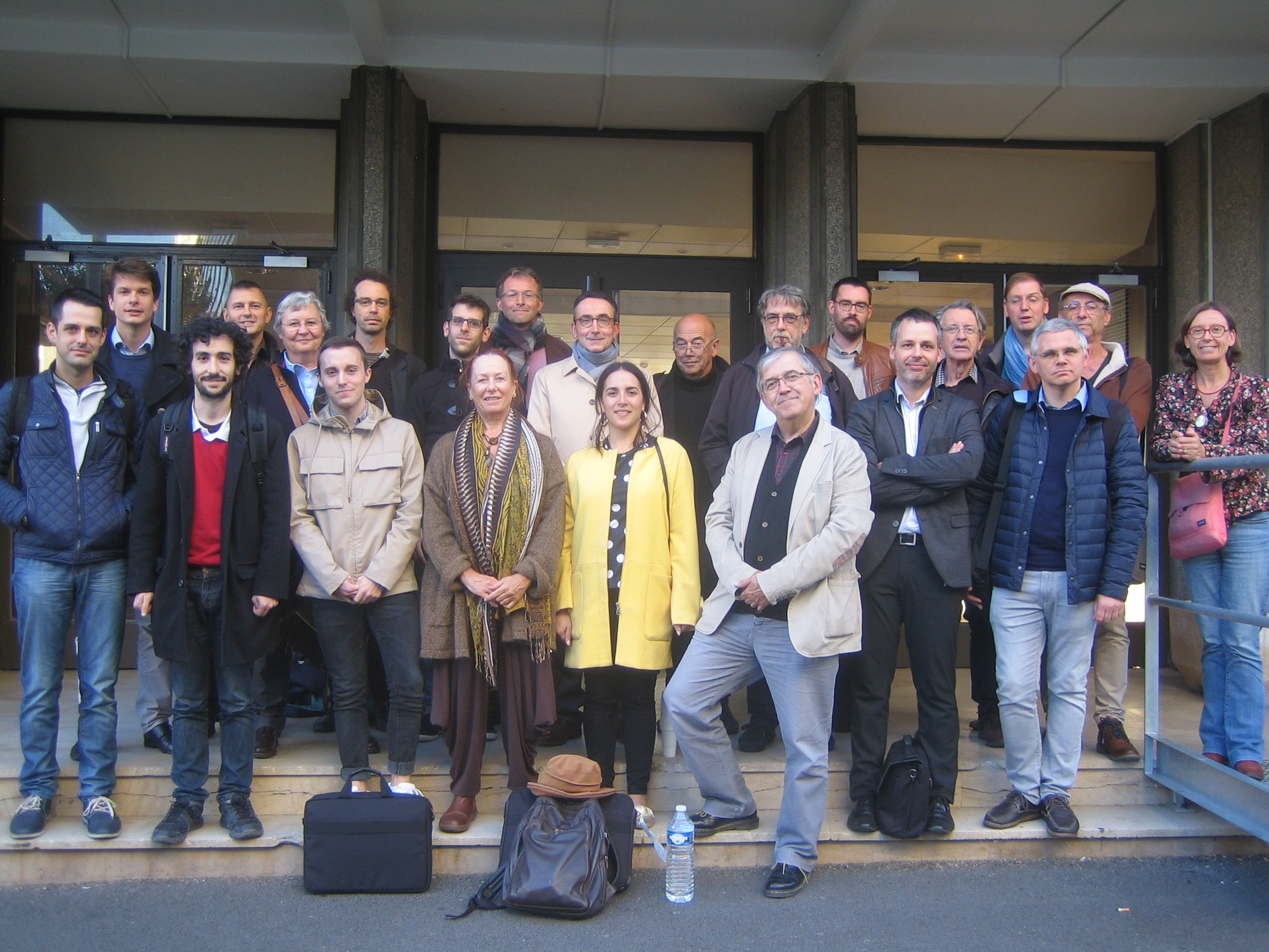 L'équipe Muséfrem devant la MSH de Clermont-Ferrand le 25 octobre 2018