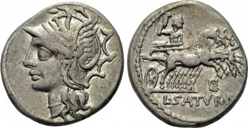 Denier de L.Appuleius Saturninus (104 BC, RRC 317/3b)