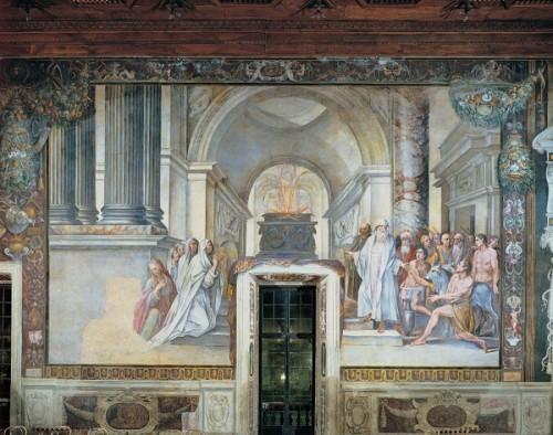 Le roi Numa institue le culte des vestales (Rome, Musées Capitolins).
