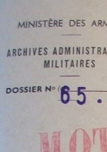 Les dossiers de carrière des officiers de l'armée de terre 1941-1970