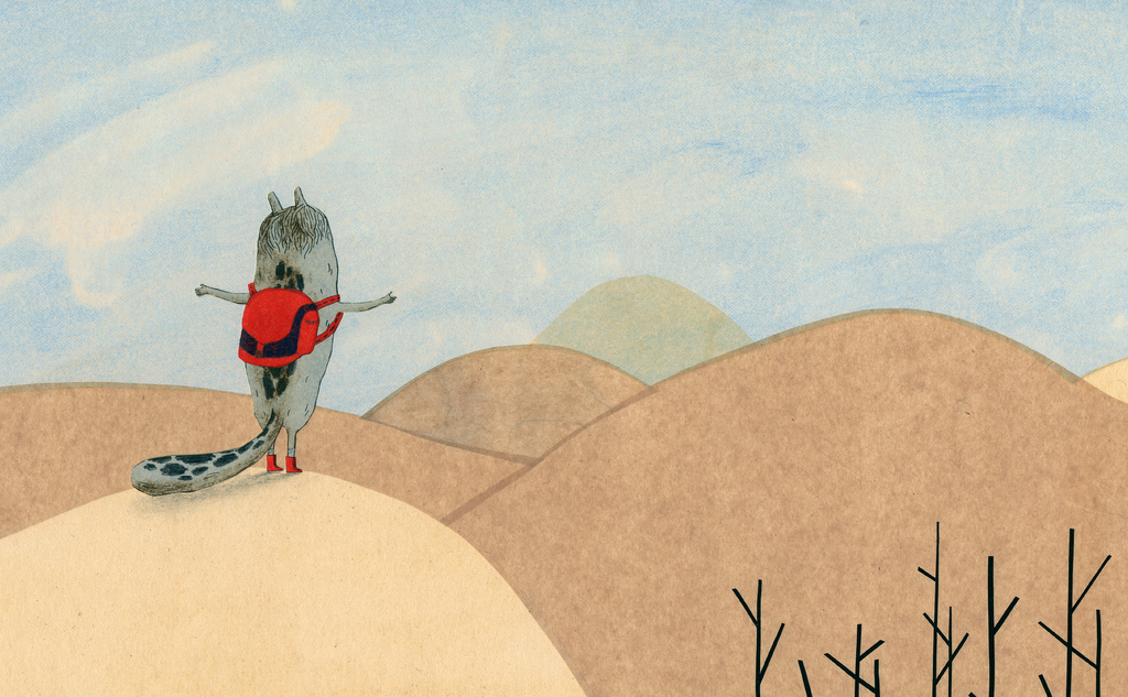 Visuel de l'ouvrage La bête et les petits poissons qui se ressemblent beaucoup
