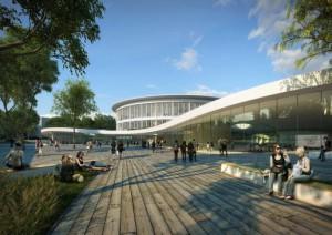 Projet du Learning Center de l'Université de Lille 1.  ©Auer+Weber+Assozierte