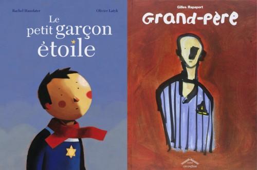 """Quelques albums cités : """"Le petit garçon étoile"""" de Rachel Hausfater et Olivier Latyk, et """"Grand-père"""" de Gilles Rapaport."""