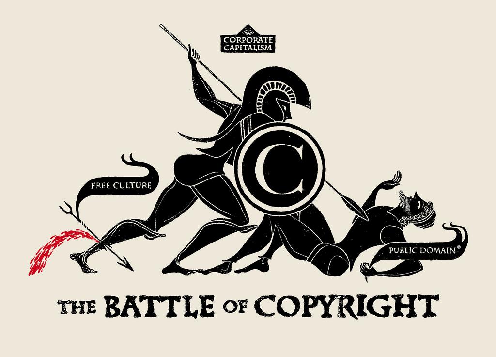 """""""The Battle of Copyright"""" par Christopher Dombres."""