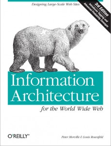 "couverture de ""Information Architecture for the World Wide Web"""