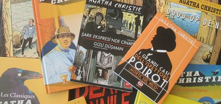 Image des adaptations étrangères d'Agatha Christie par François Rivière et Jean-François Miniac alias Solidor, cliché Miniac.
