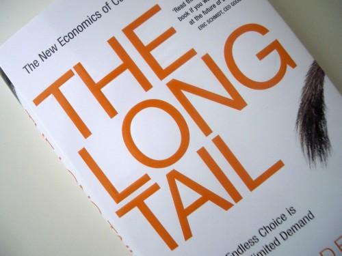 La longue traîne selon Chris Anderson, couverture.
