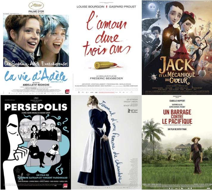 Quelques exemples de livres français adaptés au cinéma ces dernières années.