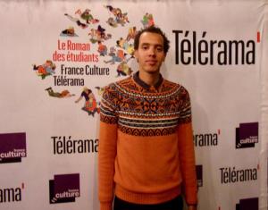 Portrait de Gaël Faye lors de la remise du prix au CROUS de Paris, à laquelle nous avons assisté avec plaisir. Photo de Laure Perrier.