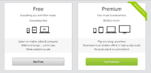 Spotify Freemium Plans