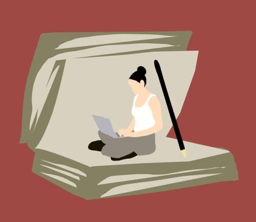 Absorbé, Livre, Jeune Fille, Lecture, Étudiant, Femmes