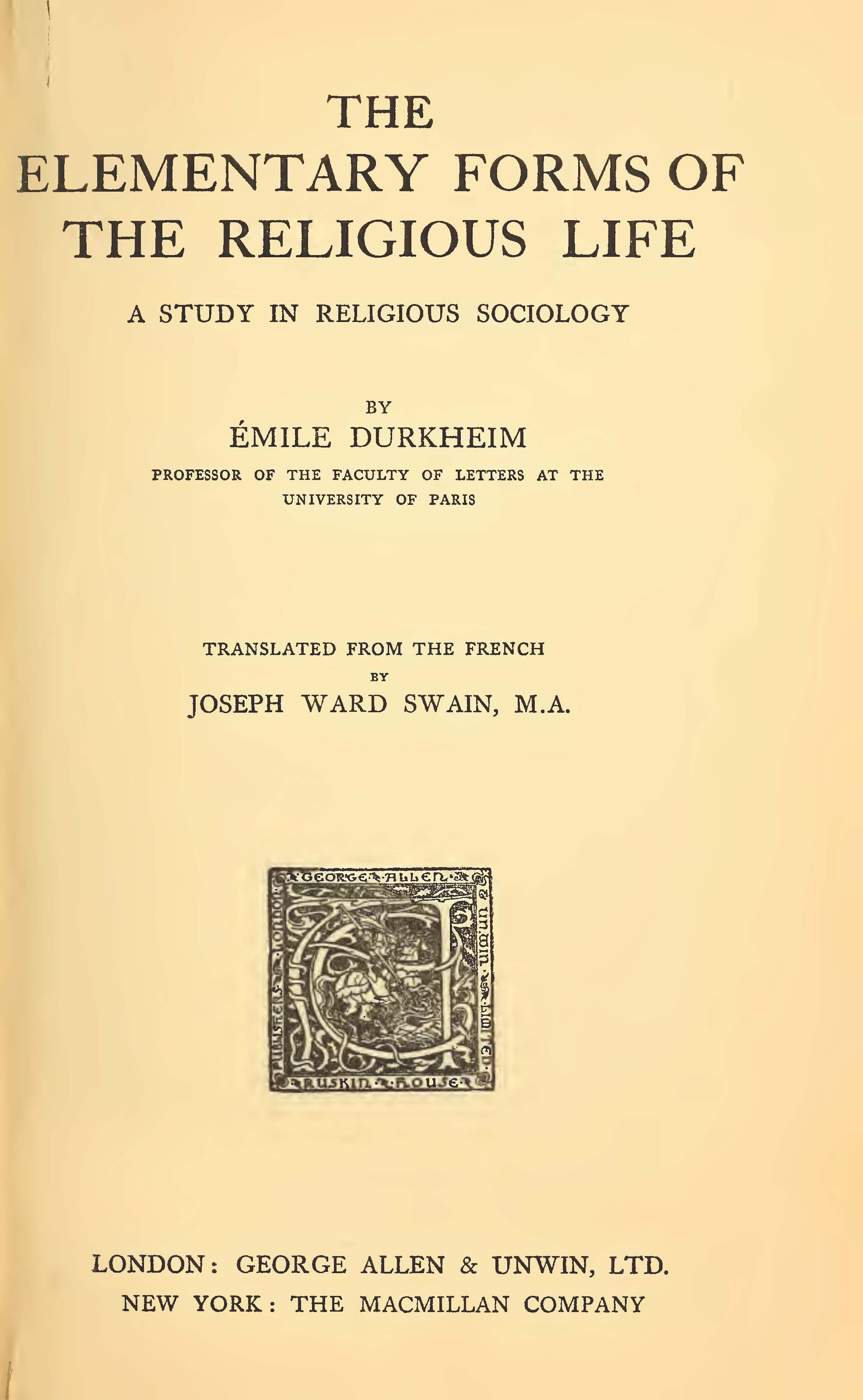 Emile Durkheim: religion – the very idea, part 1: the analysis of moral life