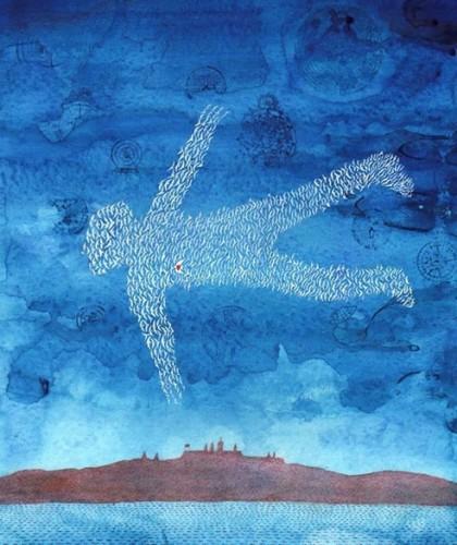 Figure 4 : Tapisserie de l'aéroport Vaclav Havel de Prague (2013), Flying Man.