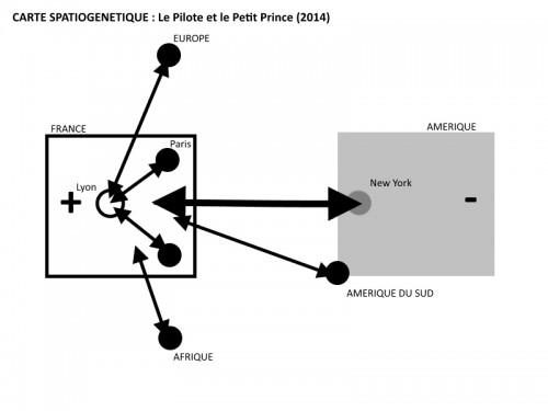 Figure 5 : Carte spatiogénétique Le Pilote et le Petit Prince (2014).