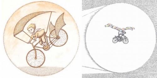 Figure 13 : Le Pilote et le Petit Prince (2014), p.10 / Le Mur (2007), p.41.