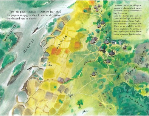 Ill. 2.5. Les trois types de paysages dans Assoua (1969), p.4-5, 6 et 7.