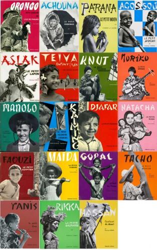 Ill. 8: Planche des couvertures de la collection «Enfants du monde», Nathan (1953-1975)
