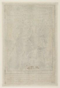 Verso de L'Homme et la mort, gravure au burin de Thomas de Leu, avec la marque du collectionneur