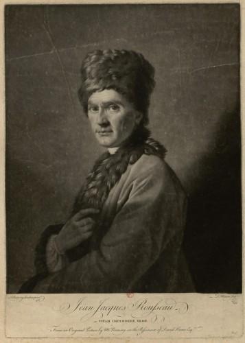 Jean-Jacques Rousseau. Vitam impendere vero. D. Martin d'après A. Ramsay (tableau de la collection de Hume), manière noire. BnF, De Vinck 6334