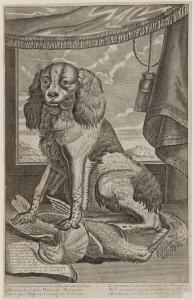 Le véritable portrait du chien de Gunnar..., vers 1690-1700 (?), burin
