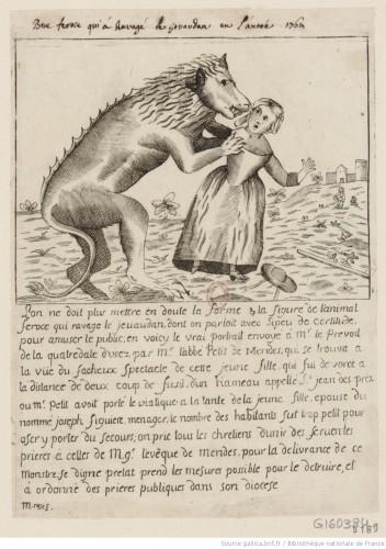Bête féroce qui a ravagé le Gévaudan en 1764