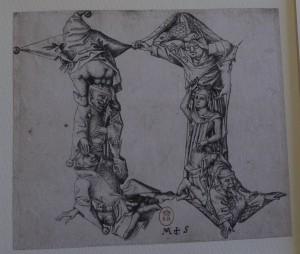 Gravure au burin. Vers 1466. BnF, Département des Estampes, Réserve Ea-40 (1)-Boîte écu
