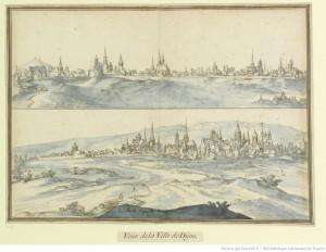 Etienne Martellange, deux vues de la ville de Dijon