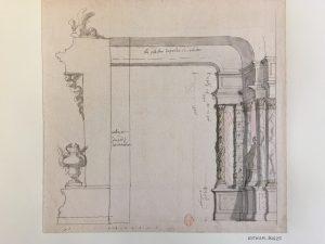 Jean Berain, Palais du Soleille, XVIIIe siècle, Dessin à la plume et à l'aquarelle ; 25,8 x 27,1 cm (f.) Projet pour la réalisation d'un décor d'un opéra