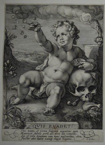 Hendrick Goltzius (1558-1617), Quis evadet ?, vers 1590, gravure sur cuivre au burin. BnF, Département des Estampes et de la photographie, Ec-37c-Fol