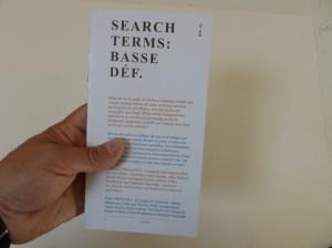 «Basse définition» : publication d'un guide de requêtes