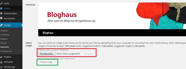 Bloghaus - Design - Kopfzeile
