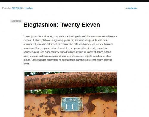 Bloghaus 2011 - Artikelansicht