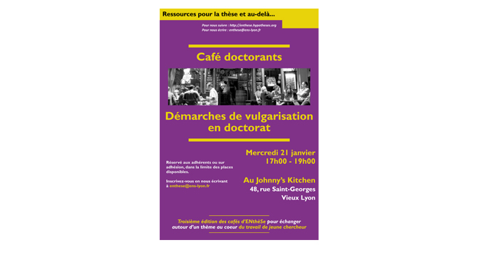 affiche enthese cafe doctorant