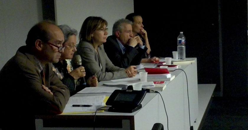 Photographie de la table - débat laïcité, mercredi IESR du 30/09