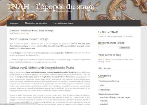 Capture d'écran d'une de mes contributions au blog de classe, dont j'aimais beaucoup le design