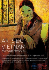 Affiche colloque Arts du Vietnam
