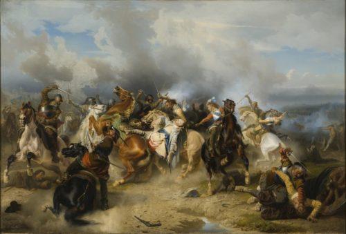 Carl Wahlbom: Gustav II Adolfs Tod bei der Schlacht von Lüzen