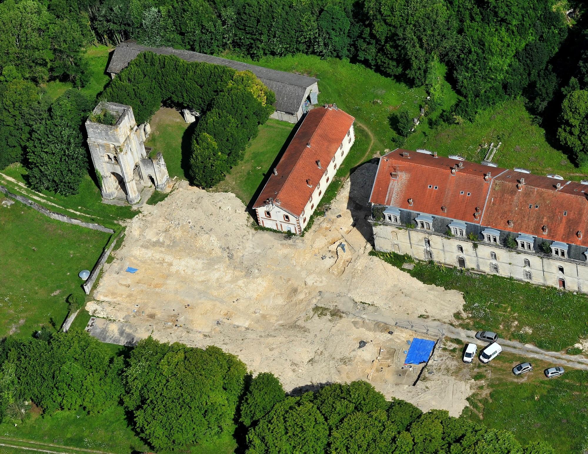 Restene av klosteret Saint-Vanne i Verdun