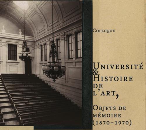 Visuel colloque Université et histoire de l'art