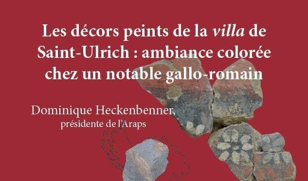 Conférence : Les décors peints de la villa de Saint-Ulrich : ambiance colorée chez un notable gallo-romain